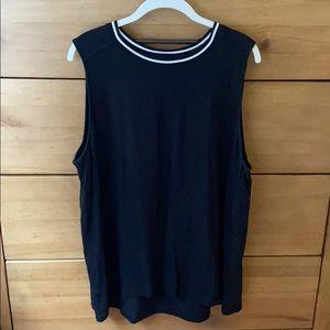 Banana Republic Black Sleeveless Knit Top / XL